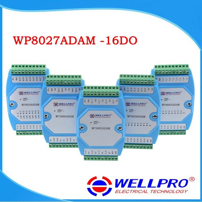 WP8027ADAM ( 16DO ) _ Digital output module / Optocoupler isolated / RS485 MODBUS RTU communications