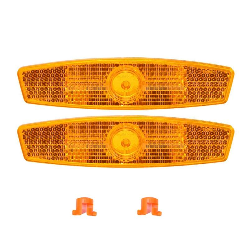 AQQ a pair Bicycle Bike Wheel Safety Spoke Reflector Reflective Mount Clip Warning bike reflector light