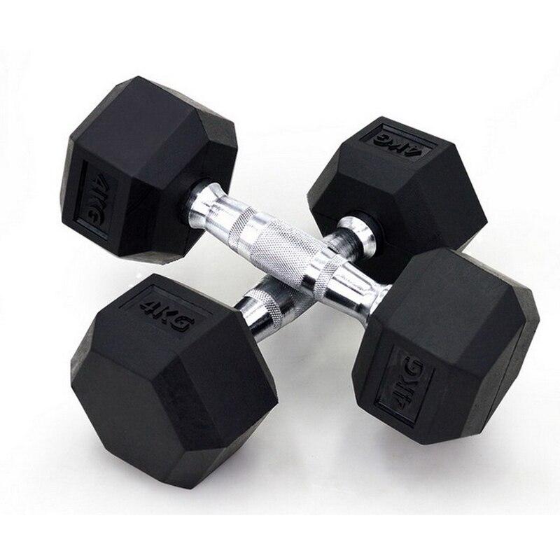 30kg*2pcs Six Corner Fixed Dumbbells men with rubber cover, dumbbells for fitness, bodybuilding dumbbells(Pair)