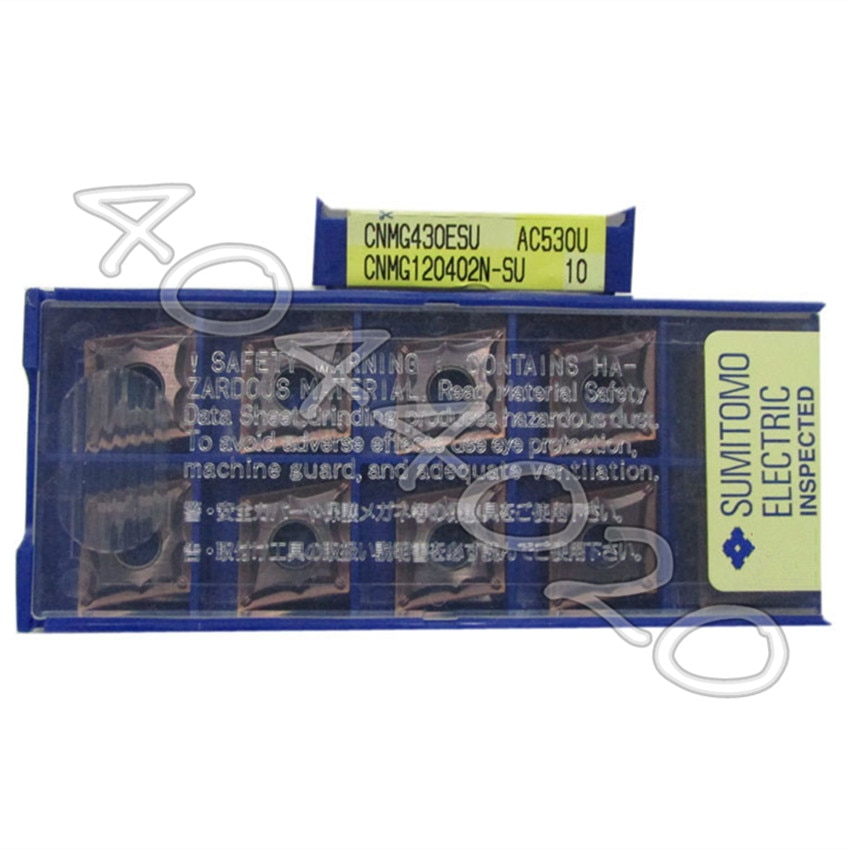 CNMG120402N-SU AC530U 10 قطعة/صندوق سوميتومو جديد الأصلي شفرة من الكربيد