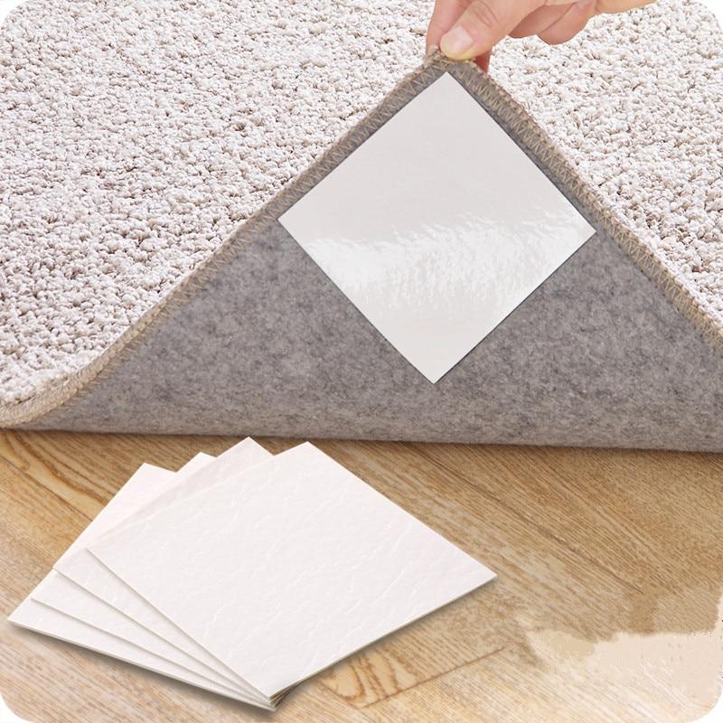 4pcs! Não tecido tapete anti-skid fixo adesivos multi-purpose anti-skid adesivo de dupla face