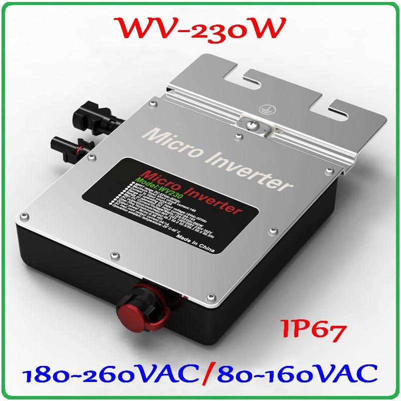 230 W 22-50VDC Micro rejilla inversor Salida de onda sinusoidal pura para 200 W-300 W 30 V 36 V PV Panel Solar MPPT en inversor de red