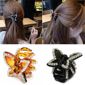 1Pc Cute Popular Women's Butterfly Crystal Rhinestone Claw Hairpin Hair Clip Clamp Accessory