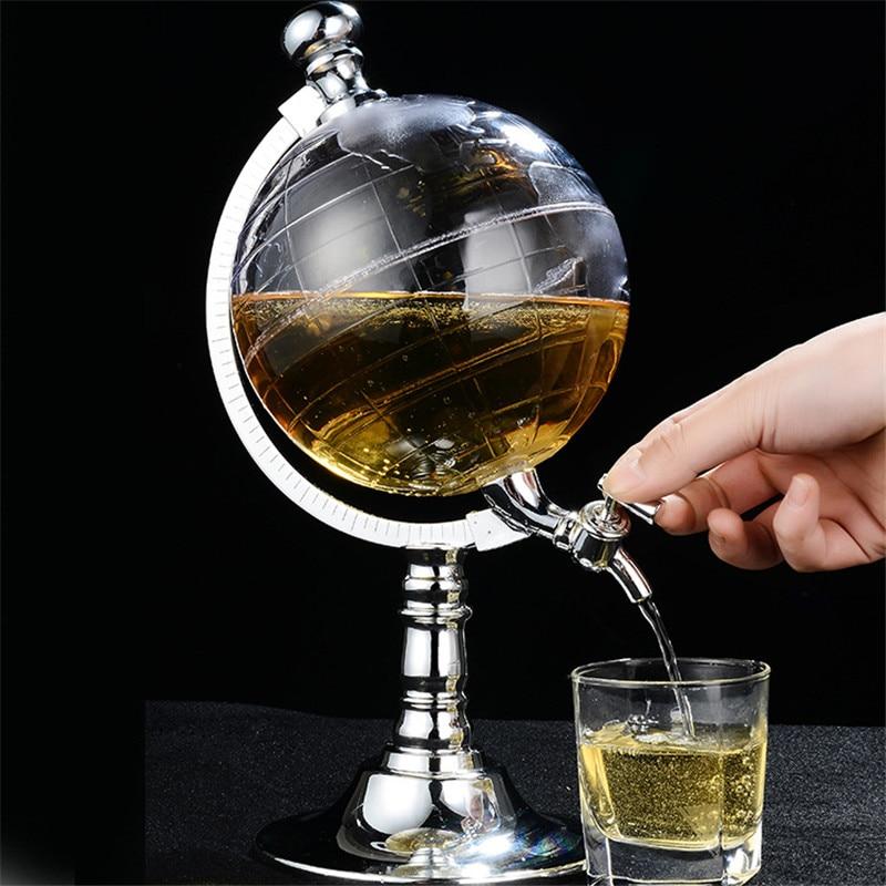 Novedoso dispensador de Alcohol líquido para decantador de vino con bomba de Gas estilo globo