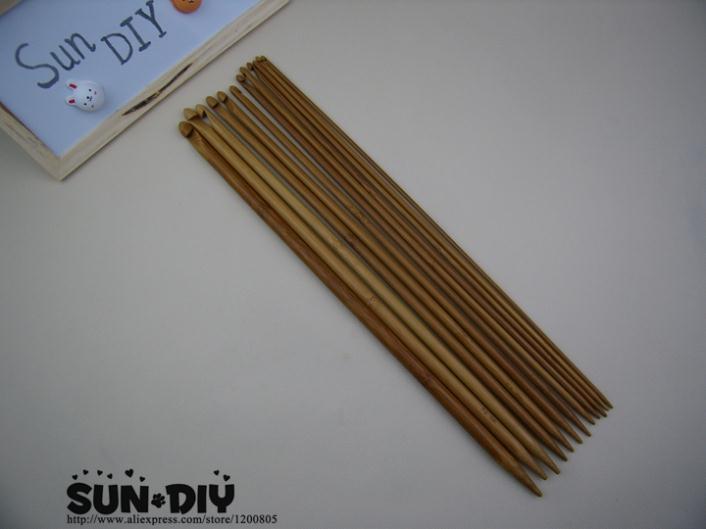 Il trasporto Libero 35 centimetri Di Bambù Afgano crochet hook & Unico punto 12pcs formato 3.0-10.0mm per il FAI DA TE di lavoro a maglia a mano artigianato