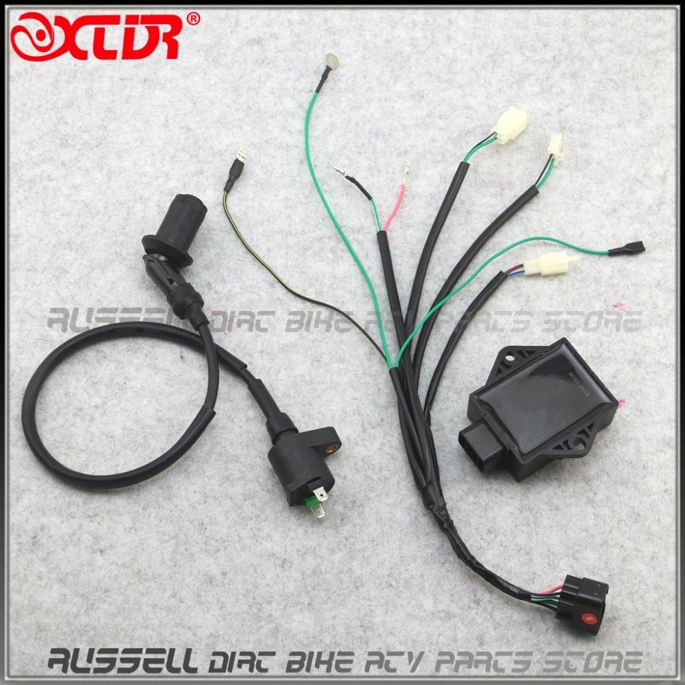 8 pines CDI unidad Plug Kick Start cableado Cable arnés telar para Lifan 140cc 150CC 160cc ZS155cc Dirt Pit Bike