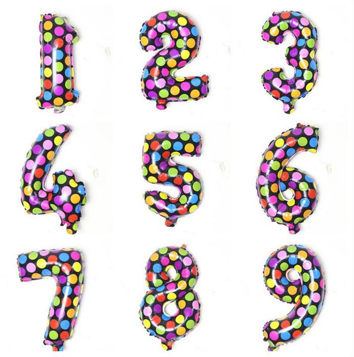 Suministros festival 16 pulgadas 40 cm metálico colorido puntos papel mylar helio globos para cumpleaños boda decoración al por mayor