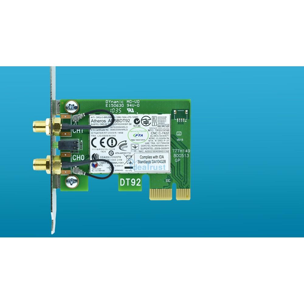 AR5BDT92 300 Mbps AR9280 2.4 & 5G 1x PCI-E 4x 16x 802.11 abgn Wi-fi Placa de Rede para PC Desktop drivers livres em Hackintosh Mac os