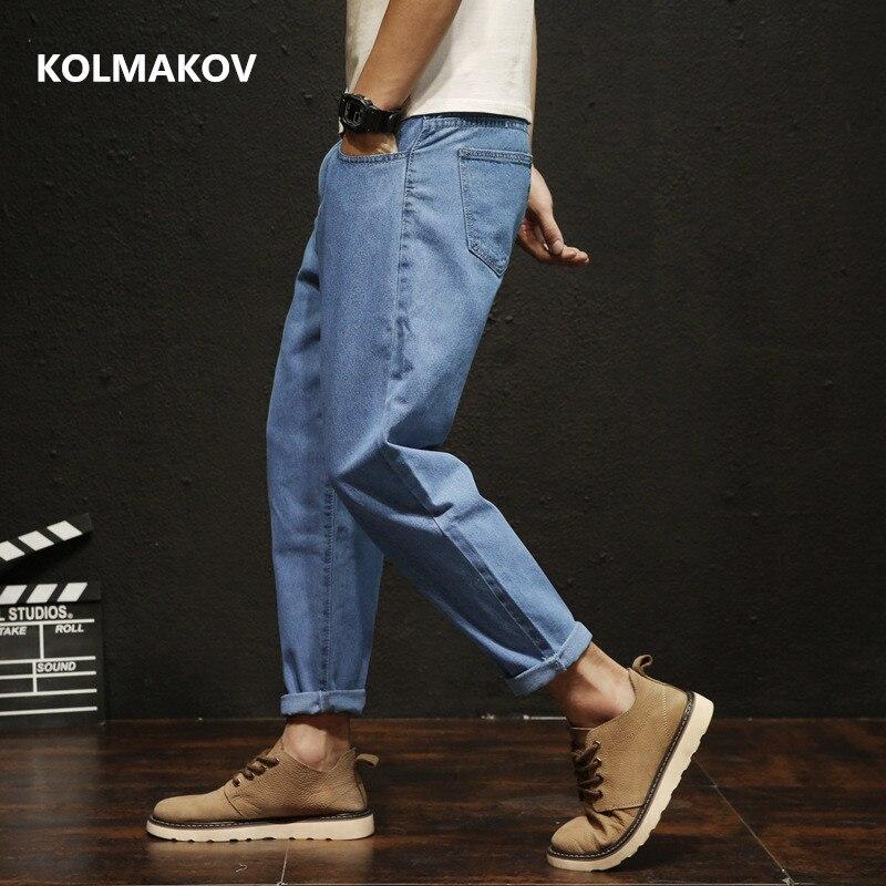 skinny jeans men 2019 Classic Male Fat jeans Elastic Loose style blue Jeans Pants Slim Fit Ankle-Length Pants Denim Jeans men