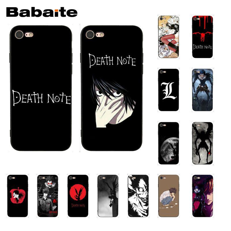 Babaite death note ryuk kira caso de telefone para iphone 11 pro 11pro max 6 s mais 7 mais 8 8 mais x xs max 5 5S xr