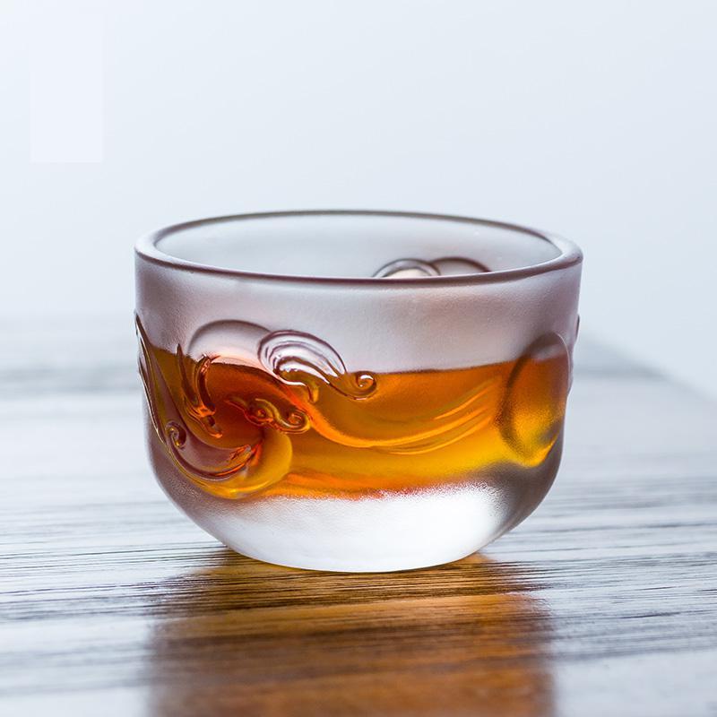 Copo de vidro canecas de chá mestre pessoal kung fu conjunto acessórios caneca de chá estilo chinês