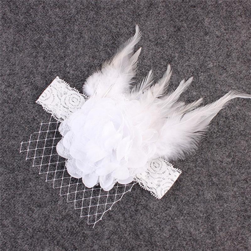 Kids Sparking Rhinestone Feather Headband Girl Headband Flower Hair Bow Headwear Hair Band Accessori