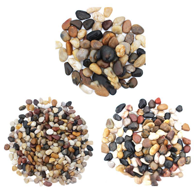 500g River Rocks Outdoor Decorative Stones Pebbles Large Natural Cobblestone Colorful Goose Warm Garden Paving Garden Rain Stone