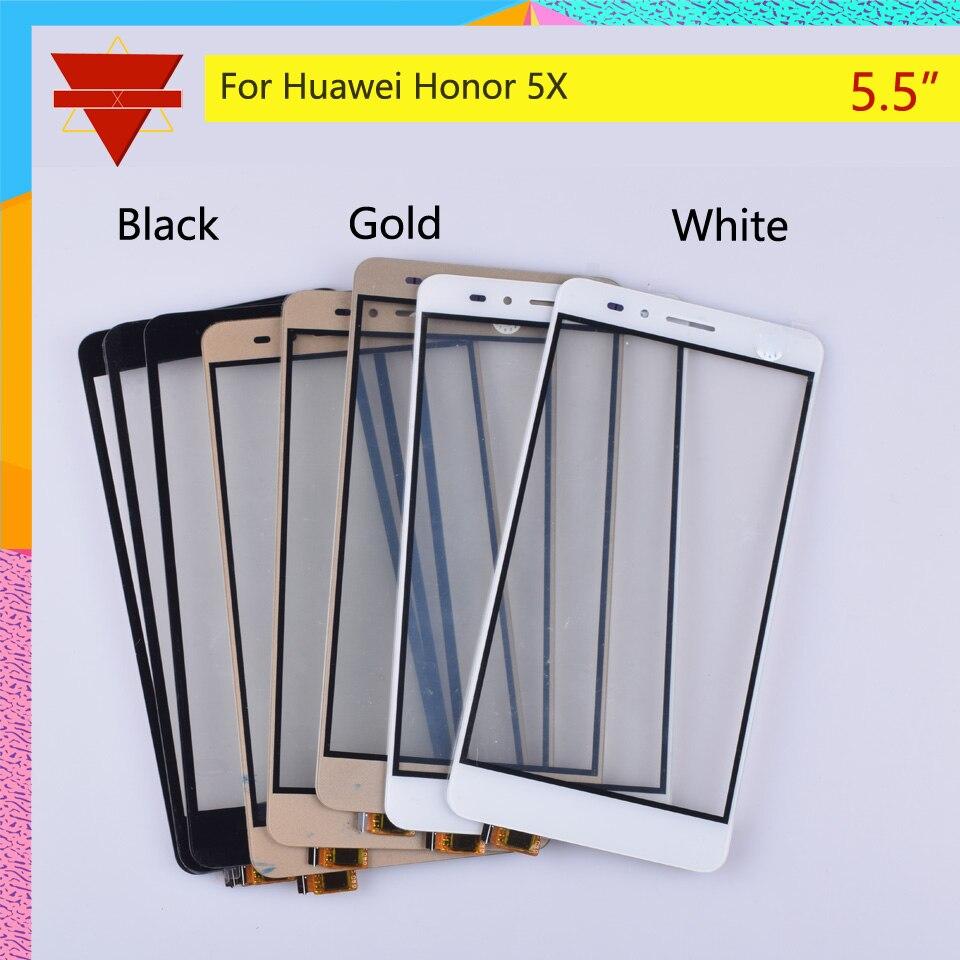 10 unids/lote para Huawei Honor 5X KIW-L21 Digitalizador de pantalla táctil GR5 KII-L21 KII-L22 KII-L23 KII-L03 Sensor de panel táctil pantalla táctil