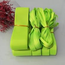 Ruban à gros-grain en Polyester solide   6mm 9mm 15mm 19mm 25mm 38mm 50mm vert Lime 0544 # 100% Polyester solide