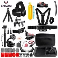 snowhu sport camera accessories set for go pro hero 9 8 7 6 5 kit mount for sjcam sj4000 for yi 4k for eken h9 sport camera gs84