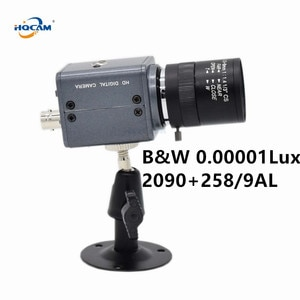 HQCAM CCD B&W Camera SONY CCD 258AL 259AL Ultral Low Illumination 0.001Lux black and white Camera Industrial inspection camera