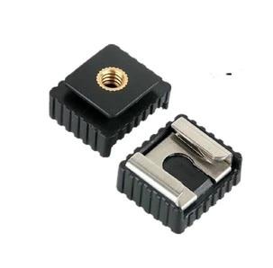 Adaptador de zapata SC-6 SC6, 1 Uds., Zapata de montaje estándar a rosca 1/4 para Flash Speedlite, accesorios de estudio fotográfico trípode
