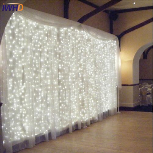 new year garland led christmas lights outdoor luces navidad led cristmas lights decoration waterfull string light luzes de natal IWHD 3X1M LED Christams Lights New Year Cristmas LED String Fairy Lights For Garland Decoration Outdoor Luzes De Natal