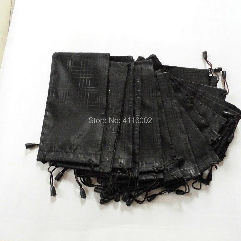 1000 قطعة/الوحدة نظارات حالة لينة للماء منقوشة الصلبة القماش النظارات حقيبة الحقيبة الأسود اللون