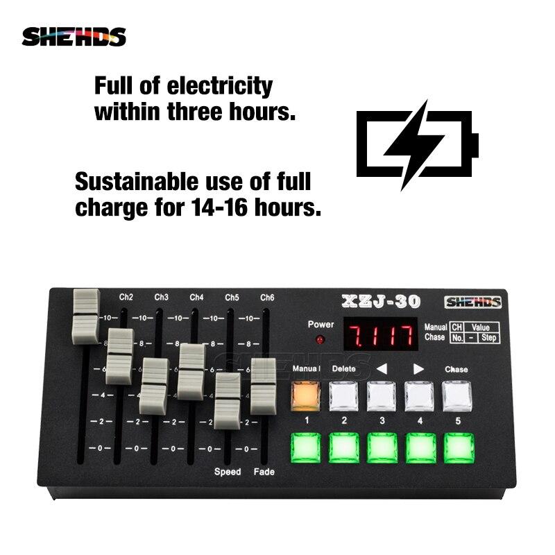 Equipamento de controle de palco de carregamento sem fio dmx consoe30 para dj discoteca controlador led par liso/movendo a cabeça/iluminação ponto