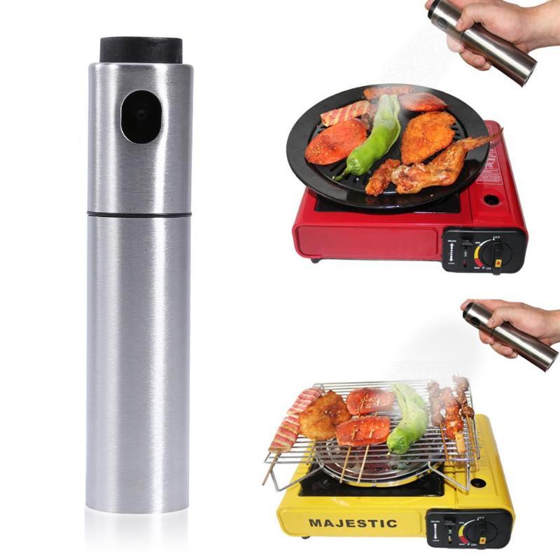 135ml Pepper Spray Vinegar Oil Spray Bottle Stainless Steel Olive Pump Spraying Oil Dispenser Cooking Tools Kitchen Accessories