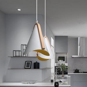 Modern E27 Led Pendant Lights Restaurant Nordic Metal Dinning-room Bar Indoor Lamp Home Decoration Lighting Fixture AC110-265v