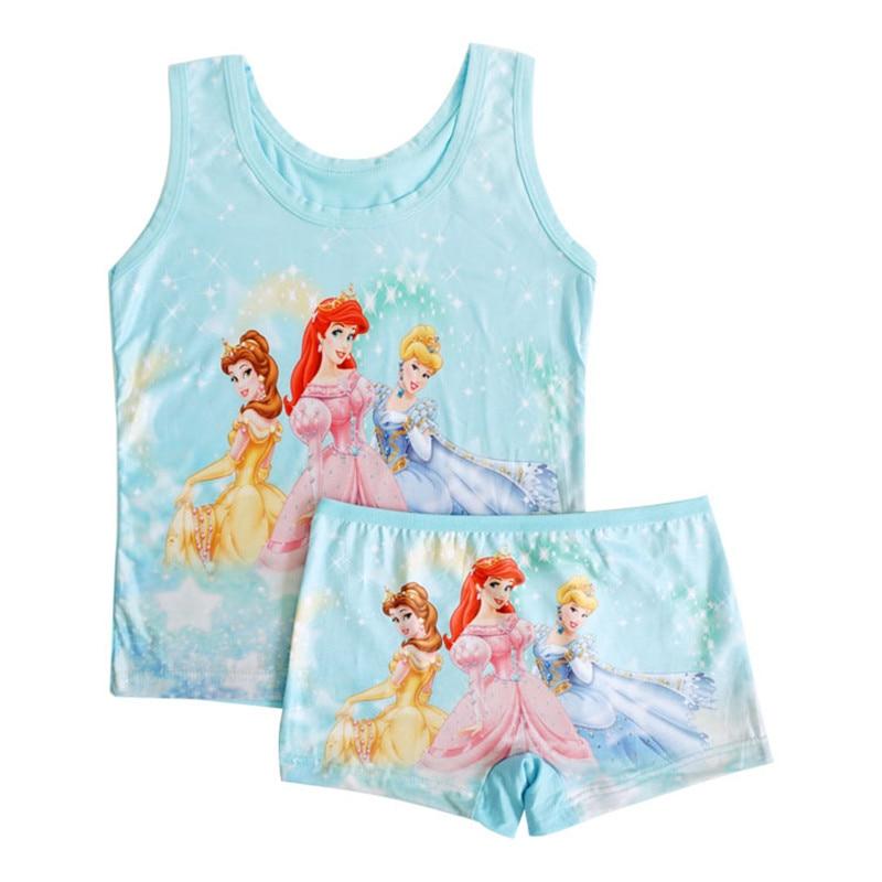 JY 3set  summer Children girl Pajama Sets Casual  girl  Bamboo fiber vest + short Pants 5color randomly TZ07