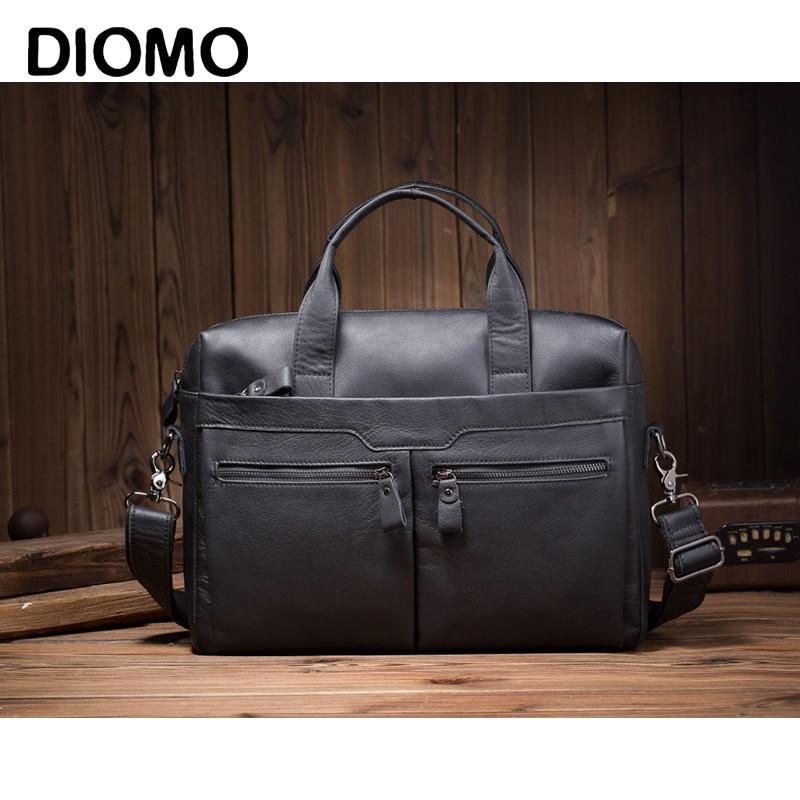 Bolso de mano de cuero de lujo para hombre, bandolera de hombro de negocios Retro a la moda para hombre, bolso de mano de diseñador, bolsa de caballero