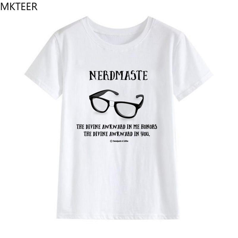 Negro gafas verano Vogue Harajuku camiseta de moda de mujer cuello redondo Camiseta de manga corta Casual camiseta blanca