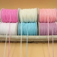 50mlot 4mm abs imitation pearl chain banding trim sewing beads for diy wedding drees design