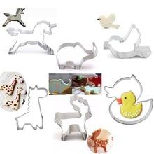 Edelstahl Keks Kekse Cutter Form Niedliche Frühlingsweinlese-tier-taube Giraffe Ente Form Fondant Mould Kuchen Dekorieren Tools