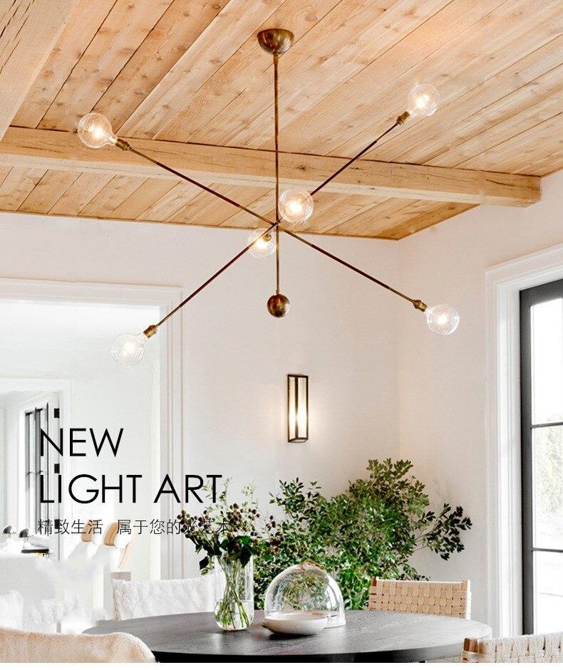 Candelabro de geometría creativa de Loft nórdico diseño conciso sala de estar Bar cocina Simple cafetería Led accesorios de luz colgante