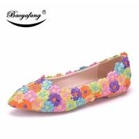 bao ya fang womens brides color wedding shoes bridesmaid dresses flat soled shoes fashion lace shoes sweet banquet shoes
