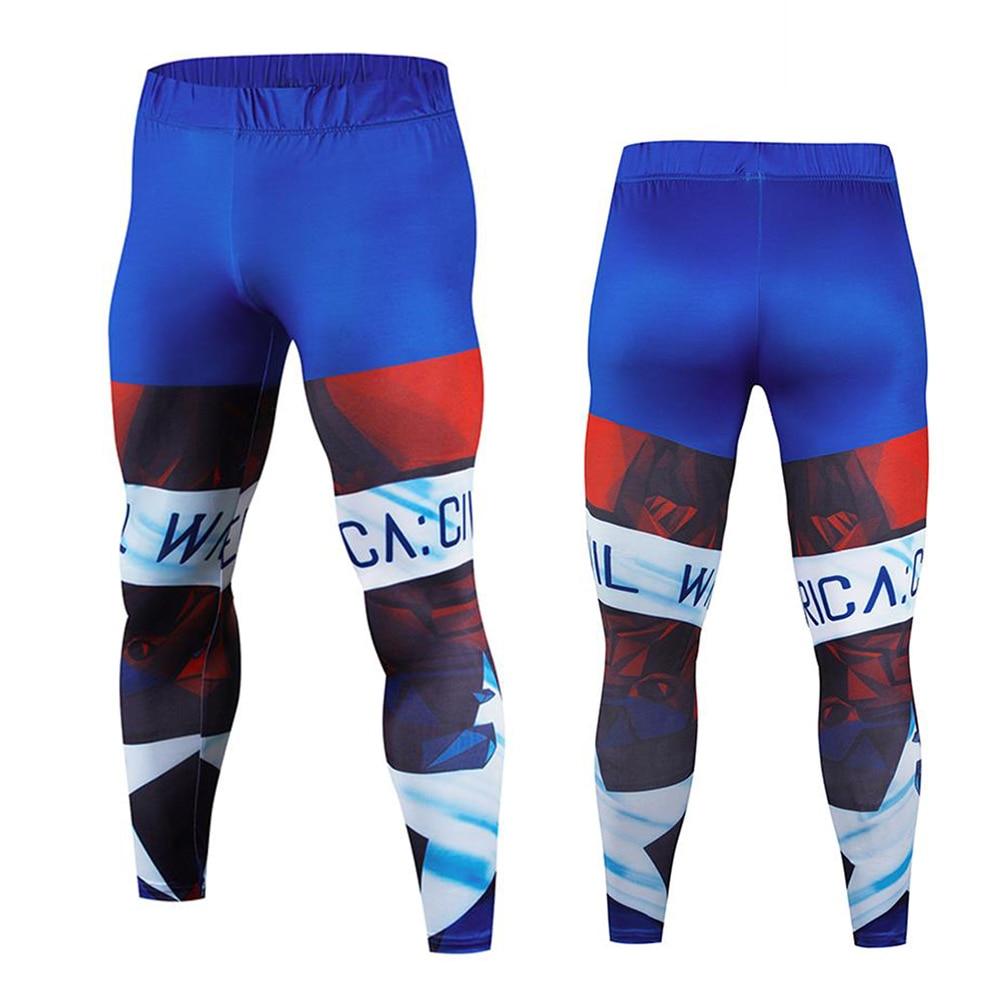 Captain America Compression Pants Men Sport Wear Jogging Pants Men Sports Leggings Training Pants Gym Man Running Tights