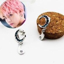 2019 nowych moda biżuteria kryształ koreański księżyc okrągłe kolczyki dla kobiet kolczyki Brincos Oorbellen mężczyzn