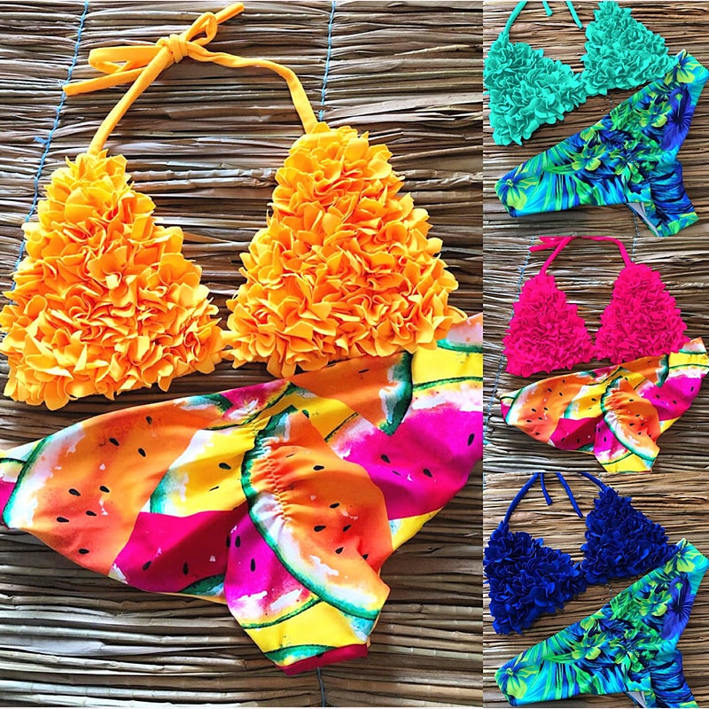 Women New Print Bikini Set Push Up Swimwear Brazil Biquni Sexy Tropical Beachwear Swimsuit Women New Bikini Bathing Swimwear