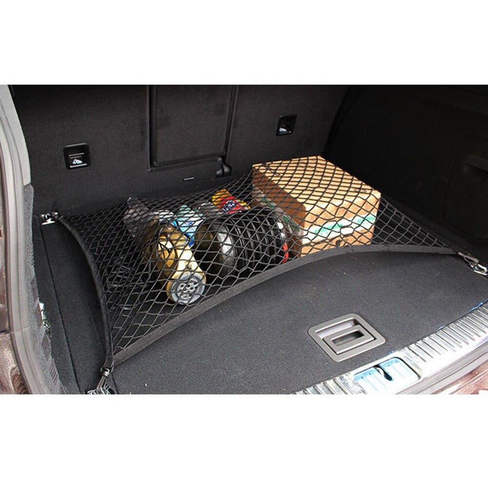 Mala do carro redes saco com ganchos de automóveis volta assento organizador armazenamento acessórios para jeep wrangler renegado skoda kia