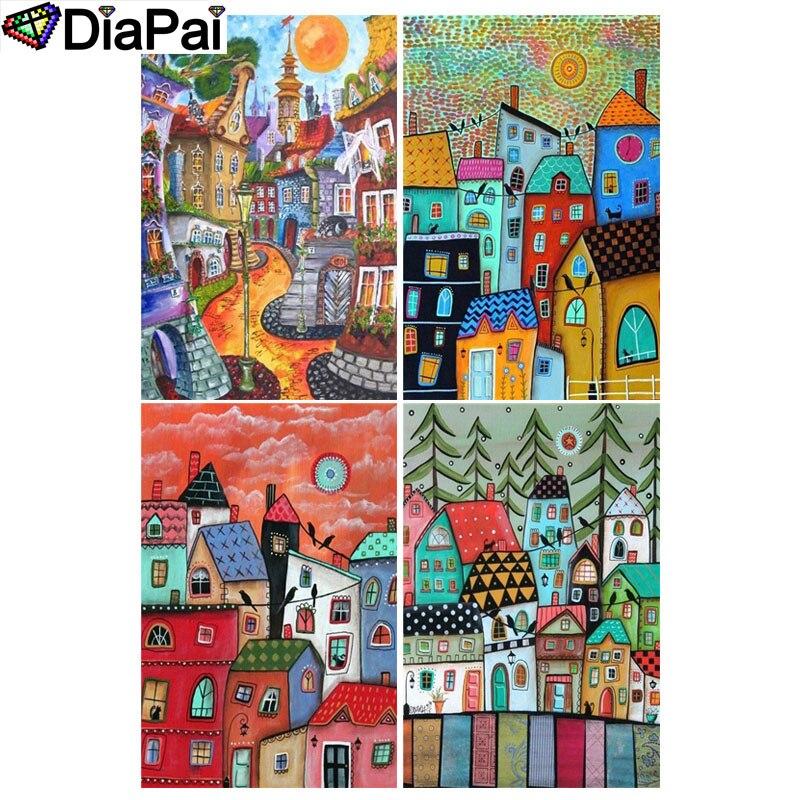 "DIAPAI 100% Full Square/Round Drill 5D DIY Diamond Painting ""Cartoon tree illustration"" 3D Embroidery Cross Stitch Home Decor"