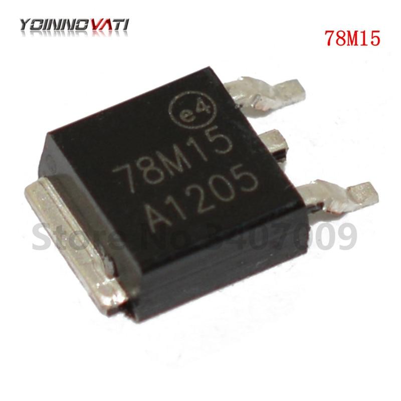 Regulador 10 Uds 78M15 TO-252 15V 0.5A positivo nuevo original entrega rápida