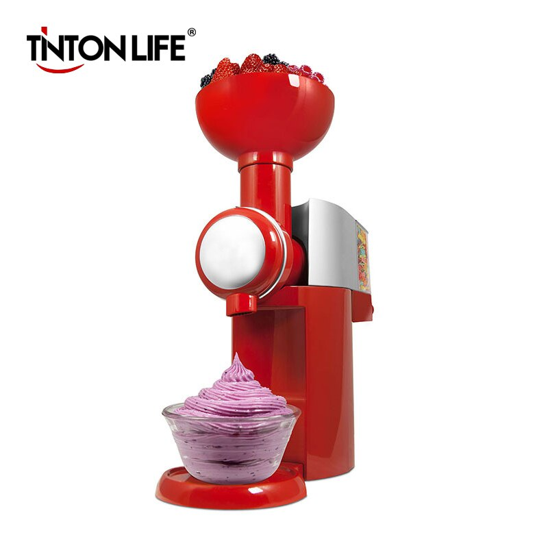 TINTON LIFE 110V-220V máquina de postres de frutas congeladas Máquina de Helados de Frutas máquina de helados casera completamente automática Mini