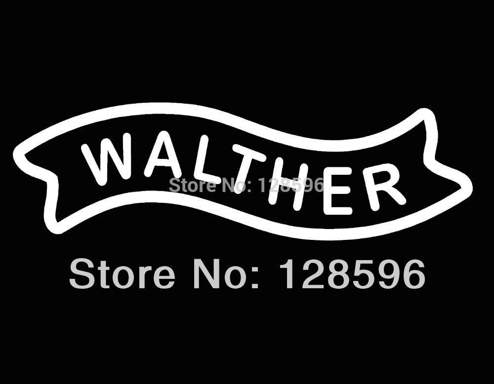 Nova walther armas de fogo logotipo vinil decalque janela caixa munição arma gabinete 17.5x5.25cm
