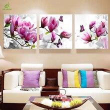 Tuval Baskı Boyama Resimleri Mutfak Modüler Resim Posterler Odası duvar süsü Orkide Modern Çiçekler 3 Panel Duvar sanat posterleri