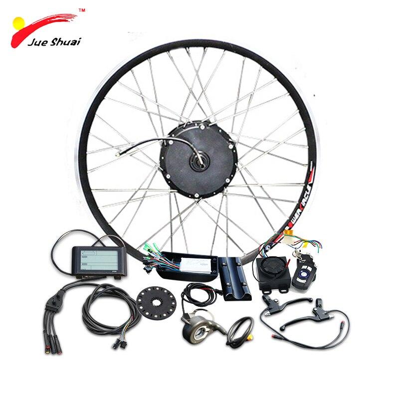 Jueshuai-Kit de conversión de bicicleta eléctrica, 36V, 350w, para 20