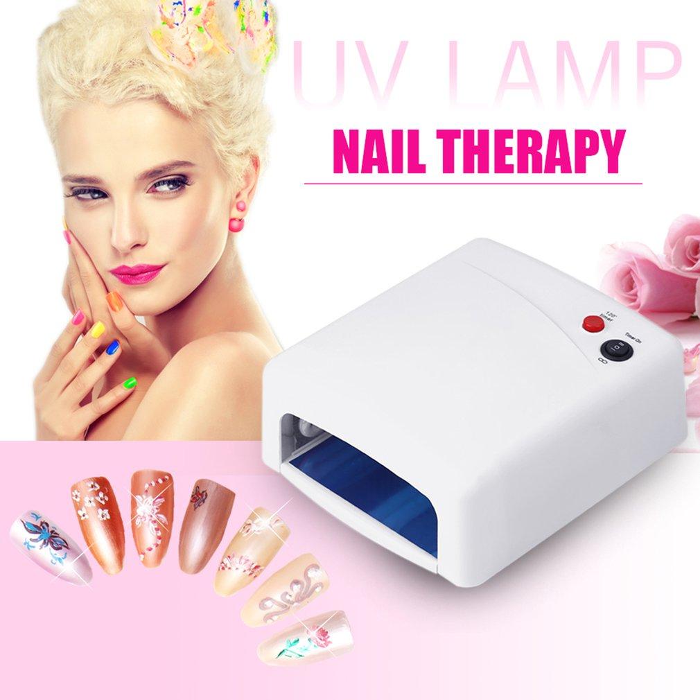 Lámpara de curado UV con 4 tubos de luz teléfono LCD pantalla frontal secador de vidrio luz UV profesional 36W lámpara ultravioleta envío Gratis