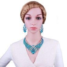 Bijoux africains collier en cristal acrylique ensemble de boucles doreilles pas cher résine strass ensembles de bijoux de mariage de mariée