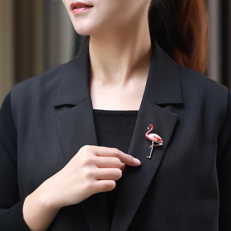 Lnrrabc na moda vermelho azul pássaro broches broche de animal feminino pinos cachecol fivela banquete broche presente
