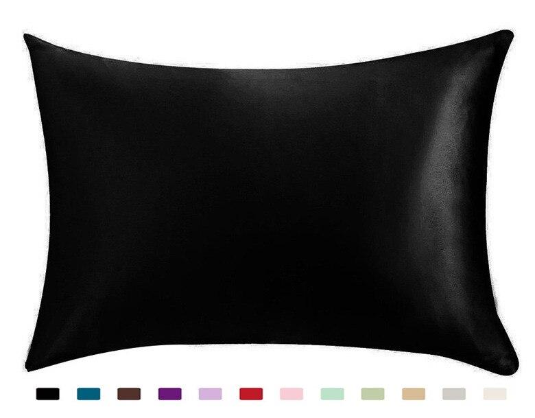 Luxo de Seda Fronha com Zíper (caixa de Capa De Almofada de Cetim de Seda para o Cabelo)