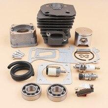 44MM Cilinder Zuiger Pan Lager Pakking Decompressie Valve Kit Voor HUSQVARNA 340 345 346 350 351 353 Kettingzaag Motor motor Deel