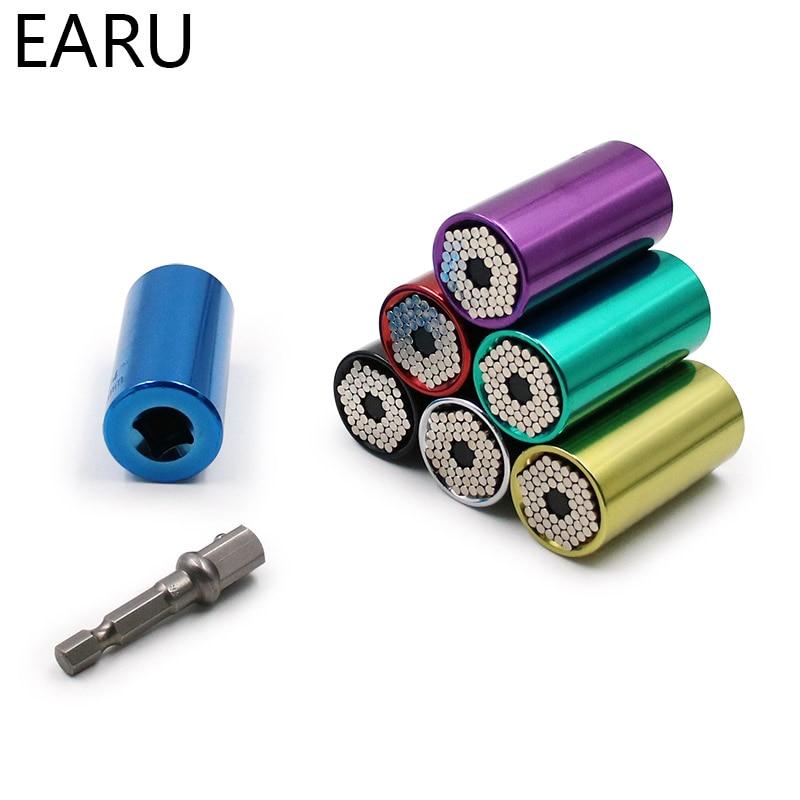 Universal Torque Wrench Head Set Socket Sleeve 7-19mm Power Drill Ratchet Bushing Spanner Key Magic Multi Hand Tools Kit Gift